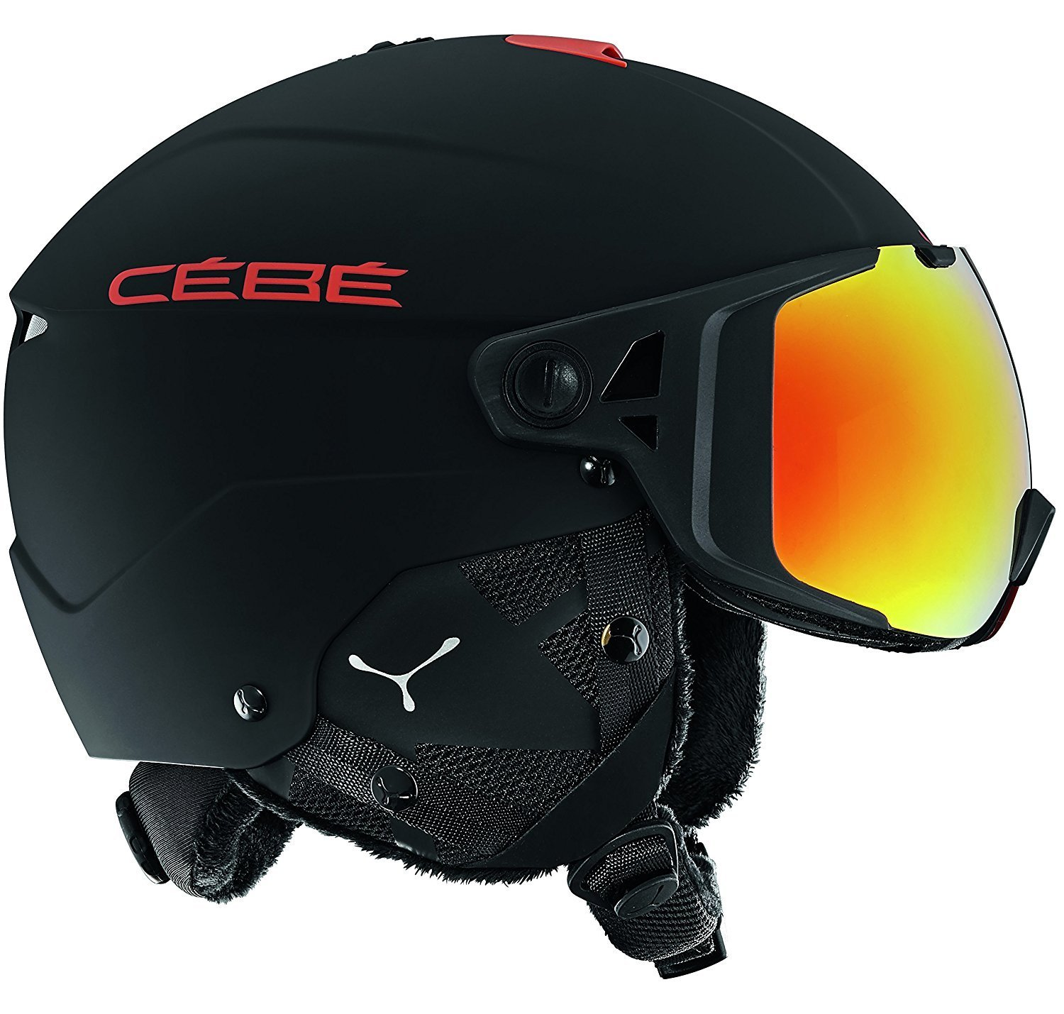 Шлем CEBE ELEMENT VISOR Matt Black Red (17/18) Red Flash Mirror