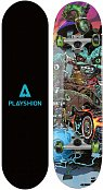 "Скейтборд PLAYSHION CRAZY 31,5""x8"" голубой"