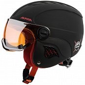 Шлем ALPINA CARAT LE VISOR HM (18/19) Black-Red Matt