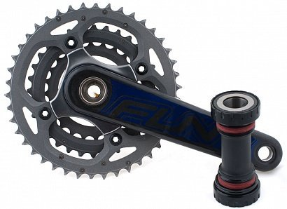 Система+каретка Funn Carbonation T Chainrings  68*73mm 10 ск