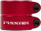 "Зажим PHOENIX Smooth Double Bolt Clamp 1.5"" Anod Red"
