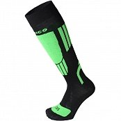 Носки MICO KIDS NATURAL SKI SOCK (17/18) Nero-Verde fluo
